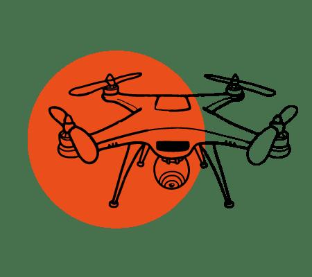 ilustracija drona