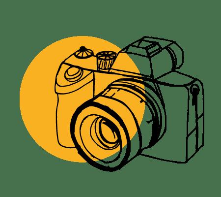 ilustracija fotoaparata